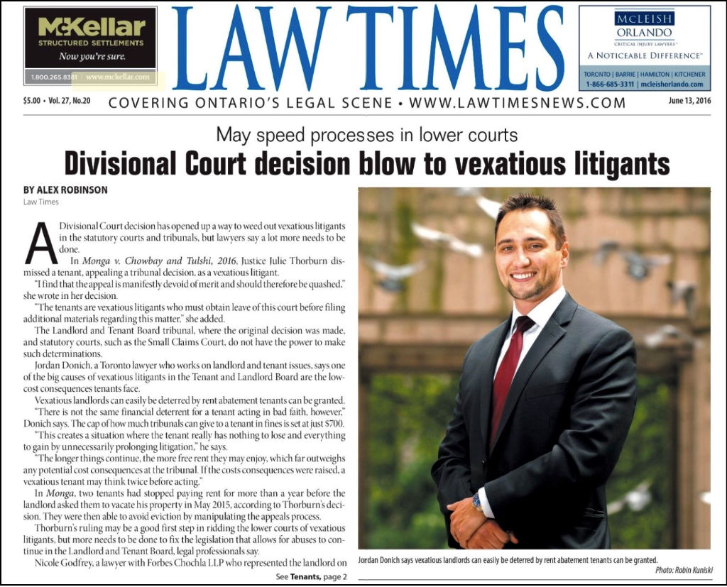 Jordan Donich - Law Times.
